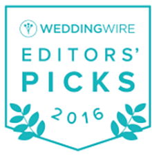 2016 WeddingWire Editors' Picks Award